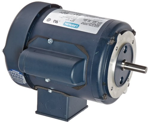 Leeson 101765.00 General Purpose C Face Motor, 1 Phase, 48CZ Frame, Round Mounting, 1/4HP, 1800 RPM, 115/208-230V Voltage, 60Hz ()