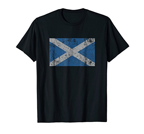 Scotland Flag Scottish Saltire Saint Andrew's Cross T Shirt