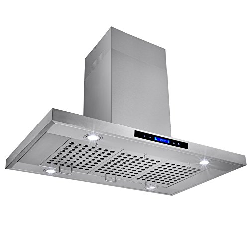 Most Powerful Range Hood ~ Akdy quot stainless steel island mount powerful kitchen