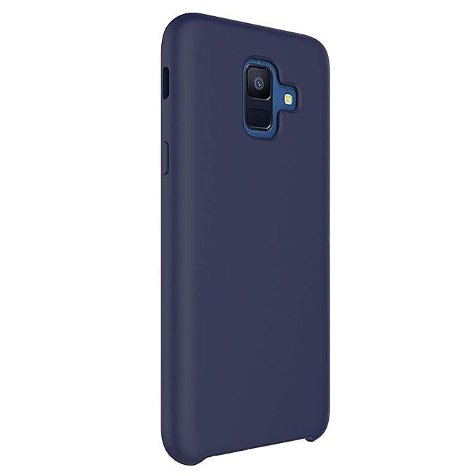 Funda Samsung A6 Plus, Slim Líquido de Silicona Suave Carcasa Anti-Rasguño y Resistente Dactilares Protectora Teléfono Caso para Samsung Galaxy A6+ ...