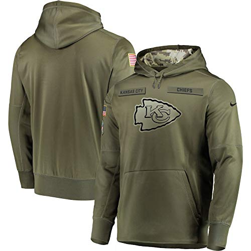 Kansas City Chiefs 2018 NFL Salute to Service Men's STS Therma Hoody (XX-Large) (Kansas City Chiefs Salute To Service Gear)