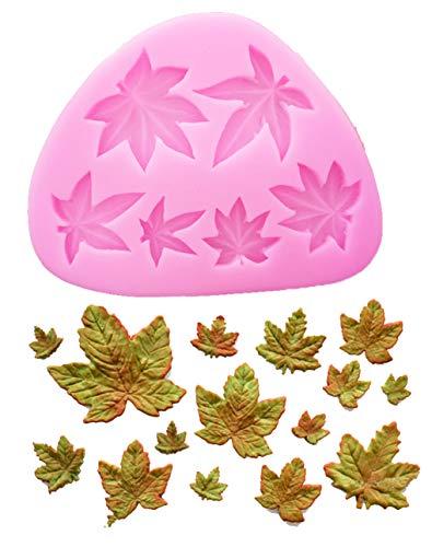 Kisweet Mini Maple Leaves Silicone Mold Fondant Mold Cake Border Cupcake Silicone Lace Mat Mold Decoration ()