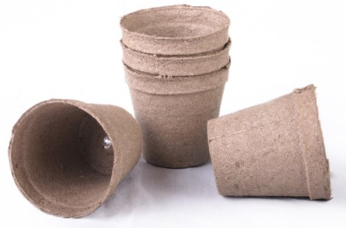100 NEW Round Jiffy Peat Pots Size 3x3 ~ Pots Are 3 Inch Round At the Top and 3 Inch Deep. (Basic pack) (Original Version) ()