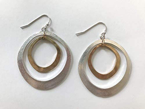 (Handmade Halo Dangle Hoop Earrings - Cape)