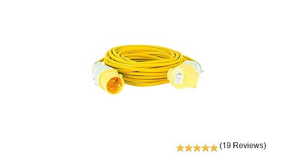 14 m, 32 A, 2,5 mm Defender E85235 Cable alargador Color Amarillo
