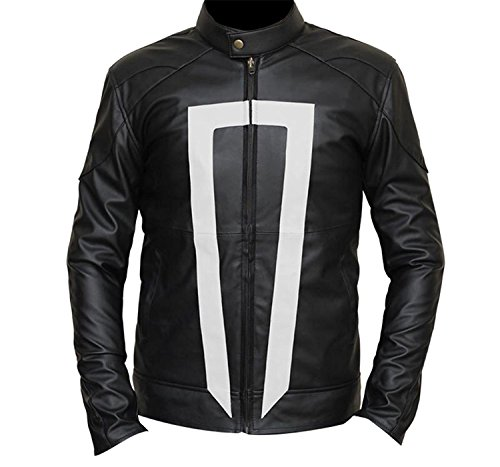 Agents Shield Ghost Rider Robbie Reyes Gabriel Luna Biker Leather Jacket