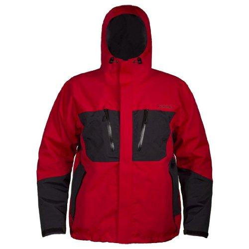 Grundens BD300 Gage-Burning Daylight Hooded Jacket, Red/Black - 3XL