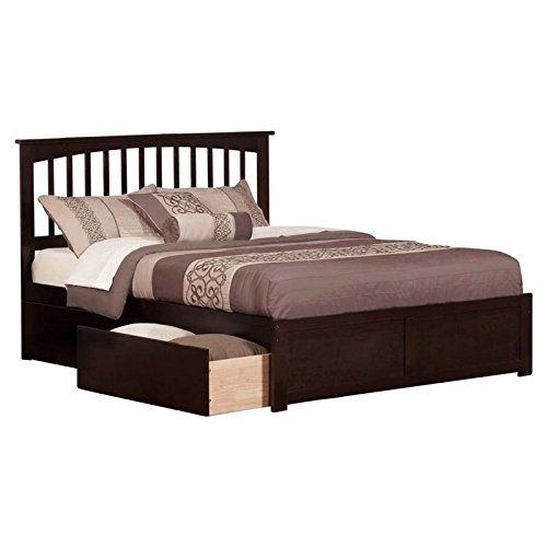 (Atlantic Furniture AR8742111 Mission Bed Queen Espresso)