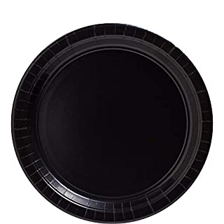 Big Party Pack Jet Black Paper Plates | 9"