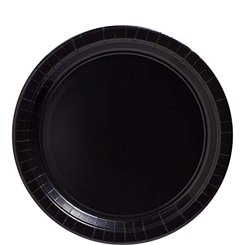 Big Party Pack Jet Black Paper Plates | 9
