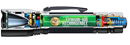 ASP Triad XT, USB Tactical Flashlight, Rechargeable 18650 Lithium-Ion battery, Bright Cree XPG2 LED, 530 Lumens, 3 output modes, Black by ASP (Image #1)