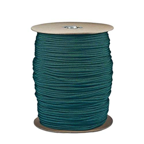 SGT KNOTS Paracord 550 Type III 7 Strand - 100% Nylon Core and Shell 550 lb Tensile Strength Utility Parachute Cord for Crafting, Tie-Downs, Camping, Handle Wraps (Emerald Green - 10 ft)