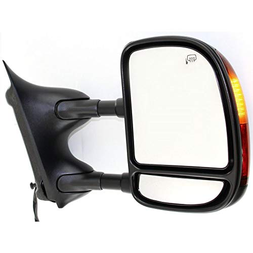 Kool Vue FD89ER Ford F-Series Super Duty/Excursion Passenger Side Towing Mirror, Double-Swing ()