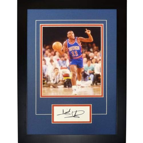 Isiah Thomas Autographed Signed Auto Detroit Pistons Signature Series Frame - Certified Authentic