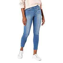 Signature by Levi Strauss & Co. Gold Label Women's Mid-Rise Pull on Skinny Crop Jeans