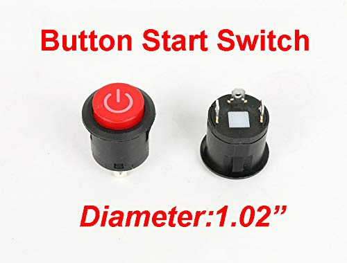 Button Start Switch Accessory for Kids Ride On Cars Replacement Parts ()