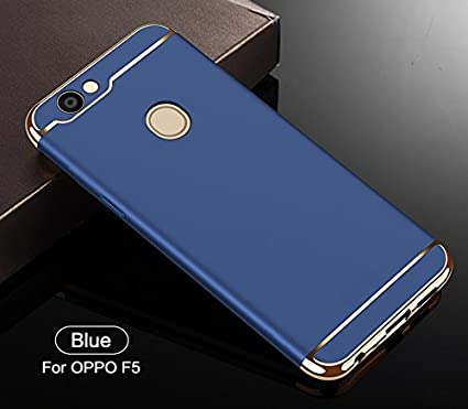 online store d5130 707c2 SPL New Chrome 3IN1 Luxury Full body Protective Back cover for OPPO F5  (Blue)