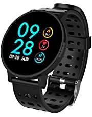 COULAX Fitness Watch, Waterproof Activity Tracker Watch with Heart Rate Monitor Sleep Monitor Steps Counter Calls SMS Notification Remote Camera Music for Kids Women Men for Android iPhone Smartphone