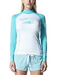 Tesla Surfista Women's Performance Long Sleeve Athletic UPF 50+ Rashguard WT71