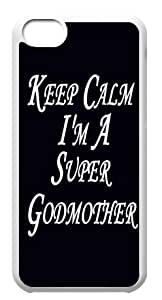 iPhone 5C Cover - Keep Calm I'm A Super Godmother Back Cases