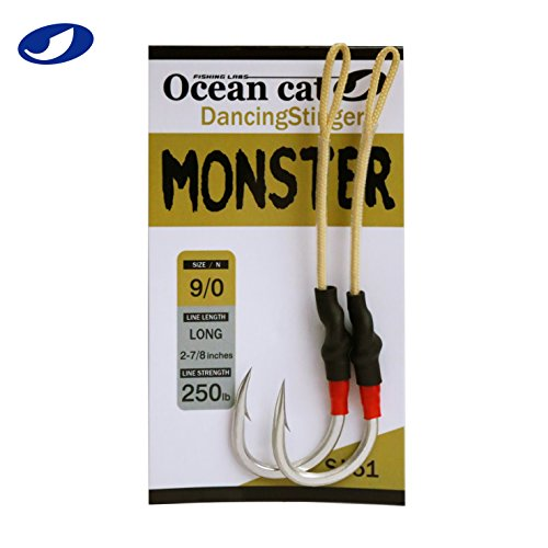 OCEAN CAT Assist Hooks SJ-51 Monster Stinger Jigging Jigs Hook Slow Fast Fall Size 3/0,5/0,7/0,9/0 (9/0)