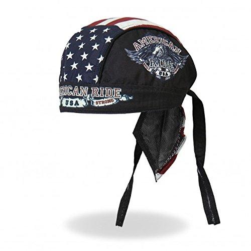 Hot Leathers Authentic Bikers Premium Headwraps, AMERICAN RIDE EAGLE - High Quality Micro-Fiber & Mesh Lining - Biker Headwrap
