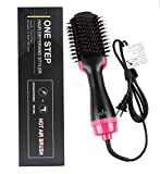 Hartop One Step Hair Dryer Volumizer, Premium Hot Air Brush Negative Ion Generator Hair Straightener Curler Brush for All Hairstyle,1000W 110V (Black)