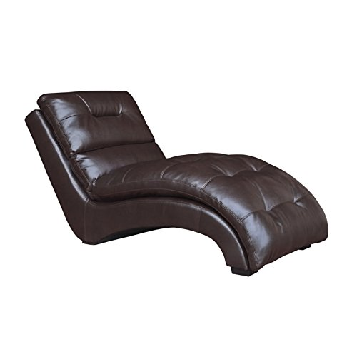 Elements Dalia Chaise Lounge in Mahogany (Living Room Mahogany Chaise)