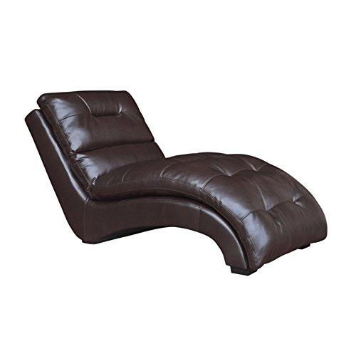 Elements Dalia Chaise Lounge in Mahogany (Living Room Mahogany Chaise)