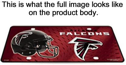 JS Table Lamp with Shade Atlanta Falcons Plate Rolled in on The lamp Base