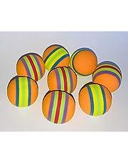 BUSDUGA Katzenspielzeug sanfte Bälle - 8 Stück in Regenbogenfarben 3,5cm