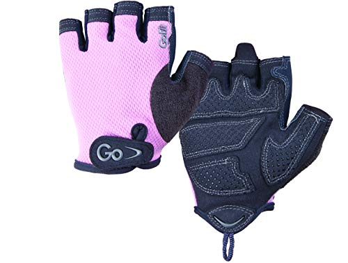 GoFit Women's Weight Training Gloves - Pearl-Tac Padded Pro Trainers - Large