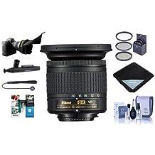 Nikon AF-P DX NIKKOR 10-20mm f/4.5-5.6G IF VR Zoom Lens U.S.A. Warranty - Bundle With 72mm Filter Kit, Lens Wrap 15x15, Flex Lens Shade, Cleaning Kit, Capleash II, Lenspen Cleaner, Software Package