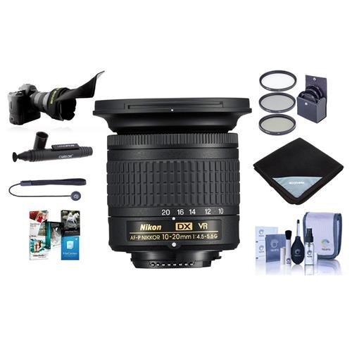Nikon af-p DX Nikkor 10 – 20 mm F / 4.5 – 5.6 G If VRズームレンズu.s.a.保証 – Bundle with 72 mmフィルタキット、レンズラップ15 x 15 , Flexレンズシェード、クリーニングキット、Capleash II、Lenspenクリーナー、ソフトウェアパッケージ   B074TBHVKD