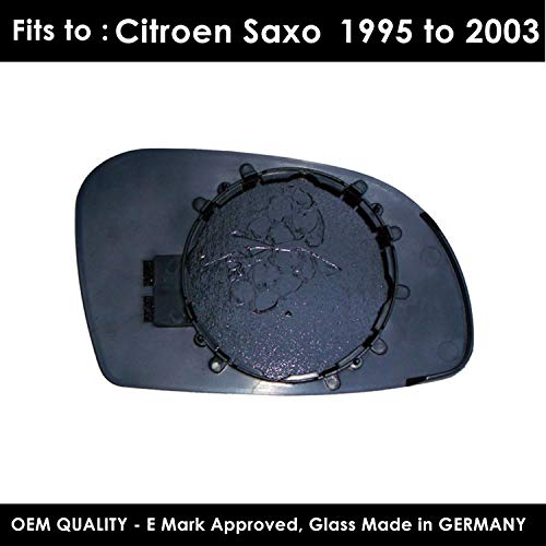 Heated Citroen Dispatch 2007,2008,2009,2010,2011,2012,2013,2014 Twin Glass Version Wing//Door Mirror Passenger Side Silver Wing//Door Mirror Glass Including Base Plate LH