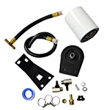 BLACKHORSE-Racing Fit 1999-2003 Ford F250 F350 7.3L Powerstroke Diesel Coolant Filter System Kit Black