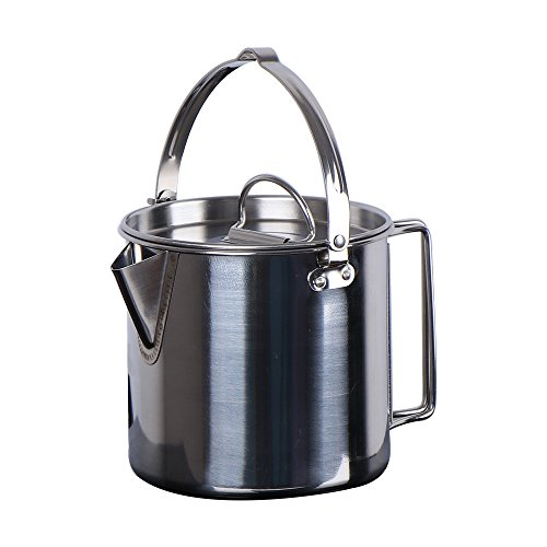 Chihee Stainless Steel Outdoor Cooking Kettle 1.2L Camping Pot for Camping Hiking Backpacking Picnic by Chihee