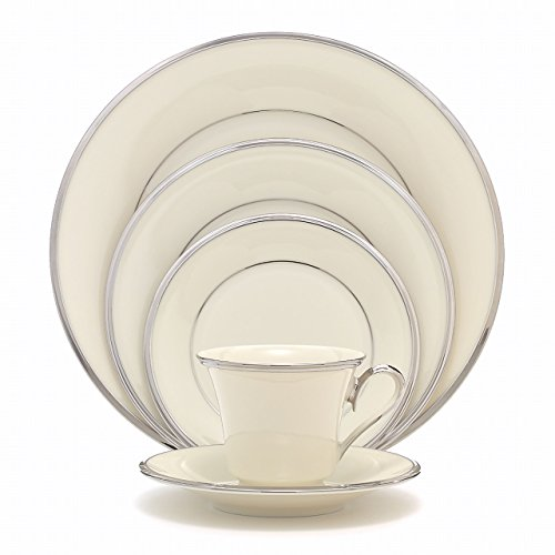 - Lenox Solitaire Platinum-Banded Fine China 5-Piece Place Setting, Service for 1