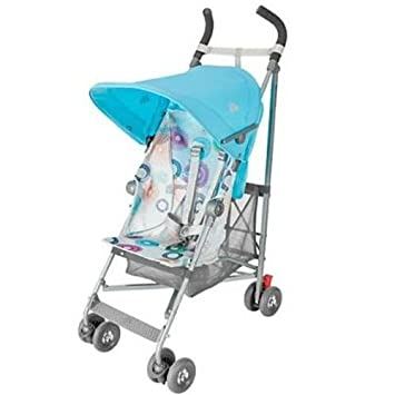 Maclaren Volo Stroller – Silver Rotary Print Blue
