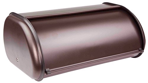 "Contemporary Design Stainless Steel Kitchen Storage Bread Box (Bronze) 17.5"" x 10.5"