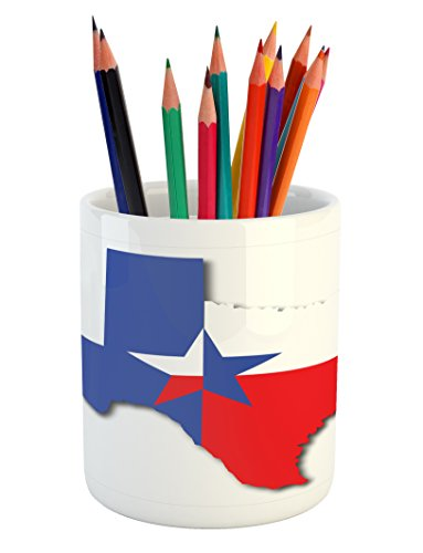 Cheap Pencil Holders ambesonne texas star pencil pen holder by outline of the texas map