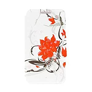 Zaki Flowers Bloom Pattern PU Leather Full Body Case with Stand for iPhone 5C