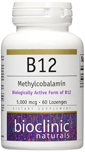 Bioclinic Naturals B12 Methylcobalamin Vitamins, 60 Count