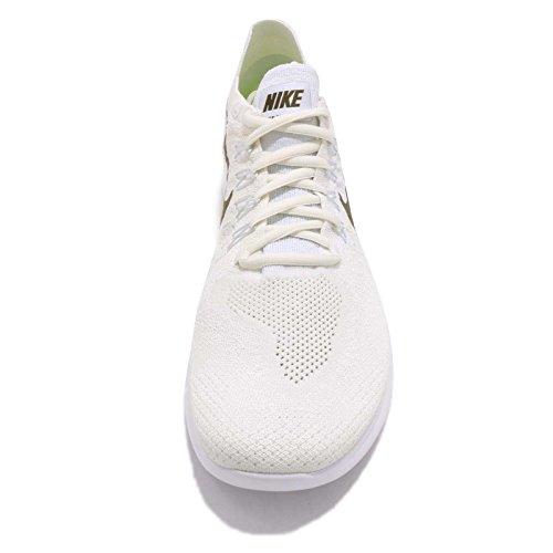 Nike Heren Gratis Rn Flyknit 2017 Wit / Medium Olive Wit / Medium Olive