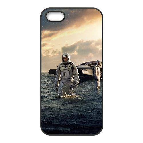Interstellar coque iPhone 5 5S cellulaire cas coque de téléphone cas téléphone cellulaire noir couvercle EOKXLLNCD24572