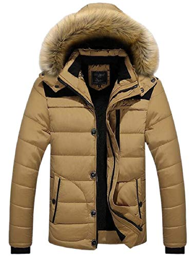 Bravepe Mens Hooded Longline Fall Winter Warm Thicken Plus Size Quilted Jacket Coat Outerwear