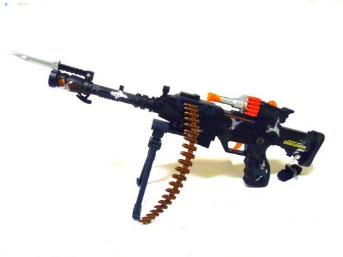 Rapid Fire Machine Gun (22 inch Rapid Fire Machine Combat 3 Gun with Lights and Sound)