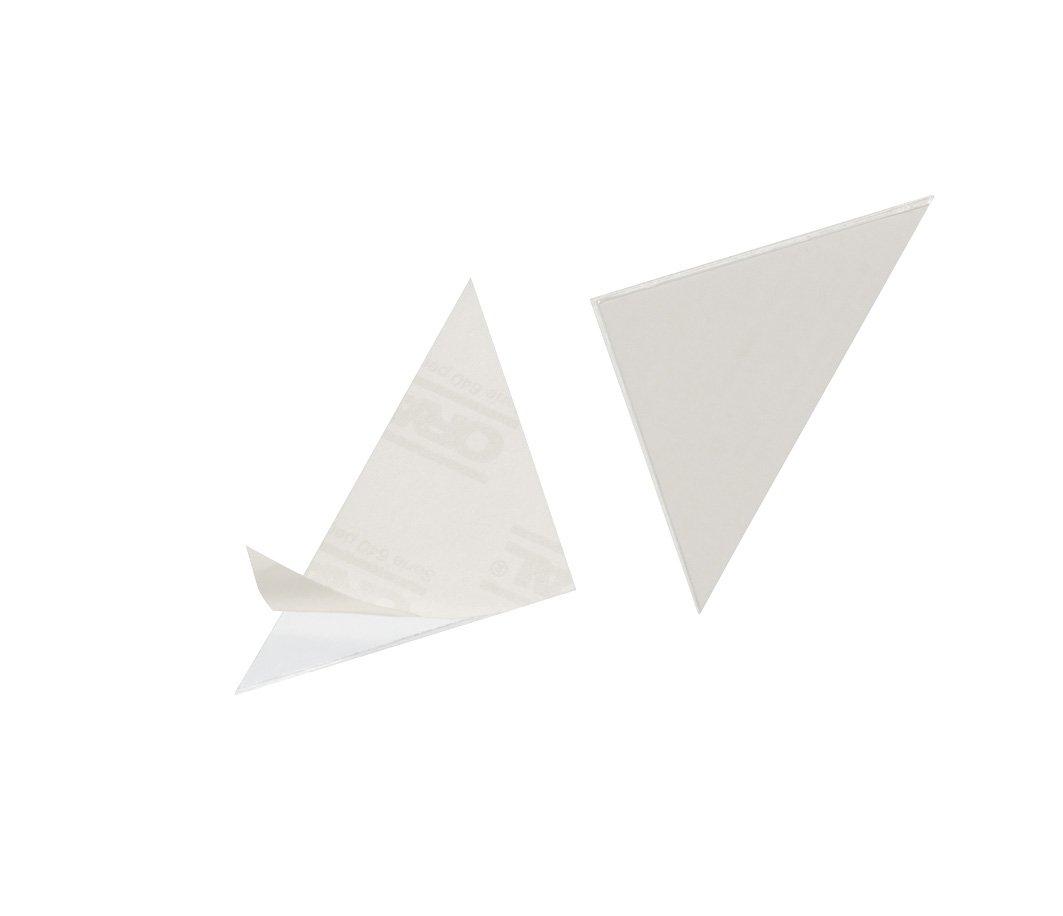DURABLE 838219 - Cornerfix, tasca triangolare adesiva, ideale per archiviare pagine singole o fotografie, 125x125 mm, trasparente, conf. da 100 pezzi