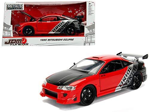 (1995 Mitsubishi Eclipse Bride Red JDM Tuners 1/24 Diecast Model Car by Jada 99105 )