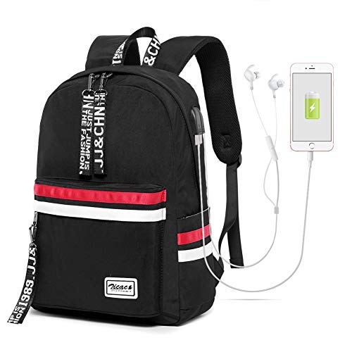 Zicac Teen Girl School Backpack with USB